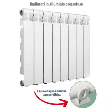 Radiatore in alluminio Fondital Calidor 80 a Roma